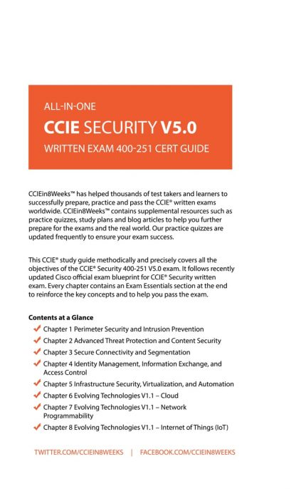 CCIEin8Weeks CCIE Security Study Guide V5.0 back