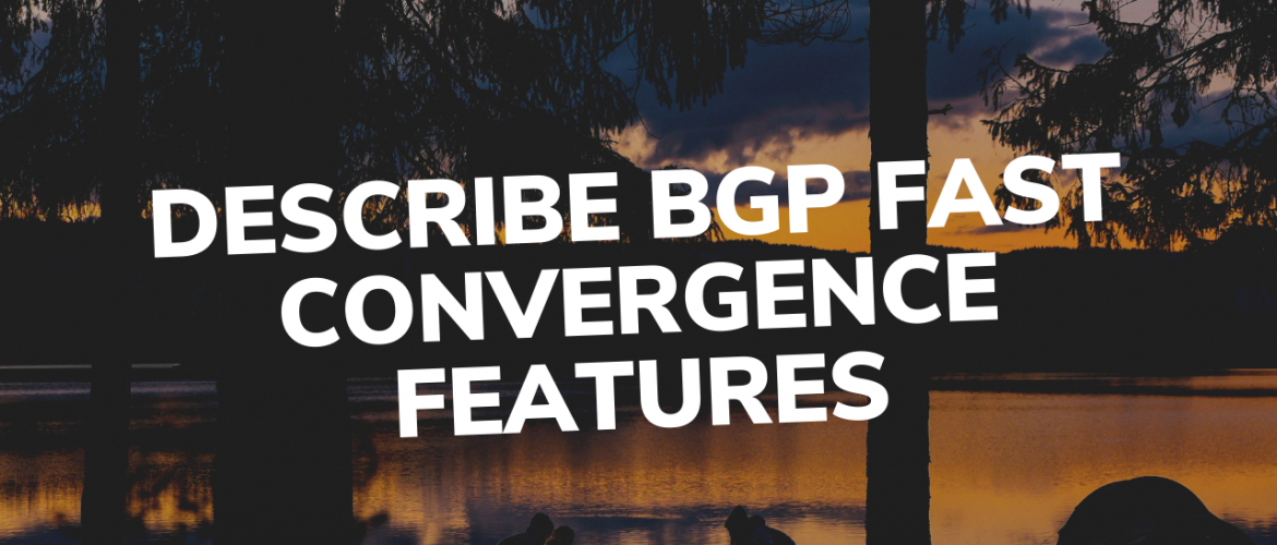 Describe BGP Fast Convergence Features
