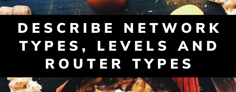 Describe Network Types, Levels and Router Types
