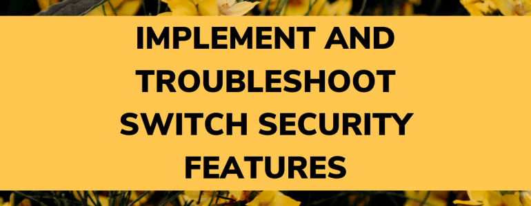 Implement and troubleshoot switch security features