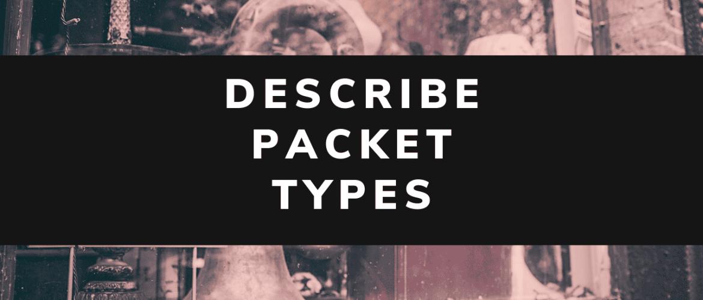 describe packet types eigrp