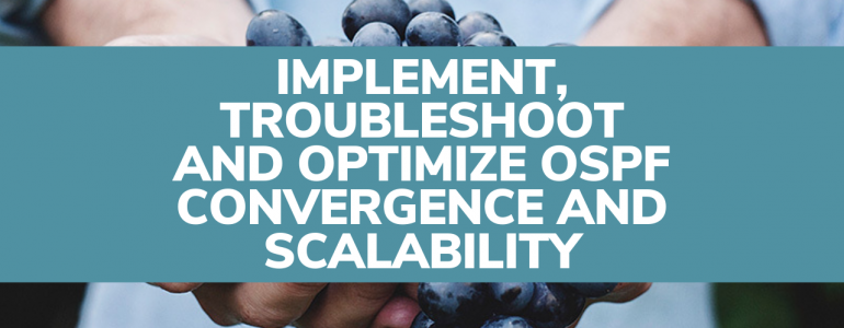 Implement, Troubleshoot and Optimize OSPF Convergence and Scalability