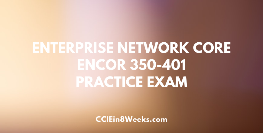ccie and ccnp enterprise infrastructure core 350-401 practice exam