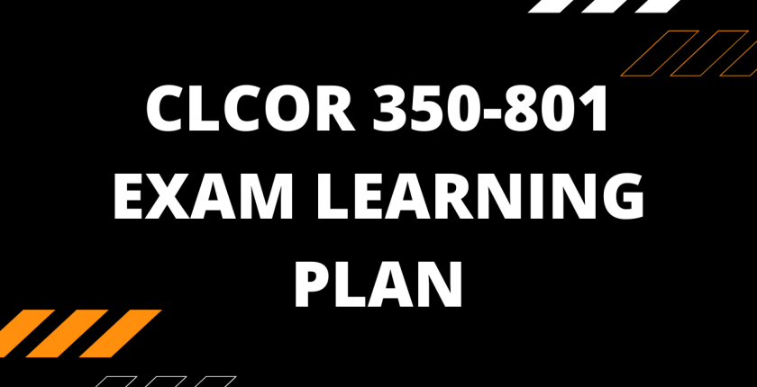 cisco ccie ccnp clcor 350-801 learning plan
